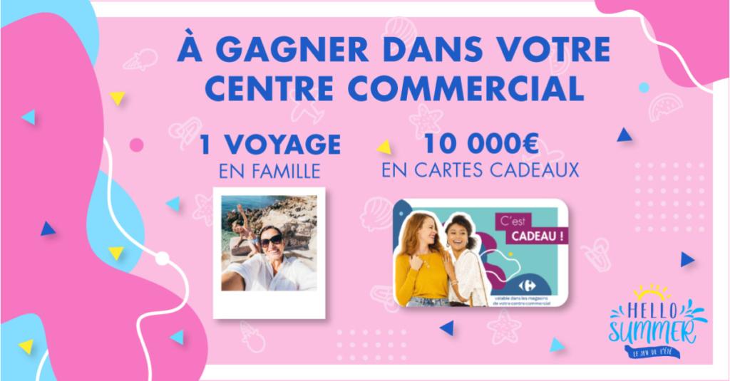Jeu de l'été 2020 HELLO SUMMER 10000 euros de cartes cadeaux et 1 voyage en Famille à Gagner du 25 Juin au 14 Juillet 2020