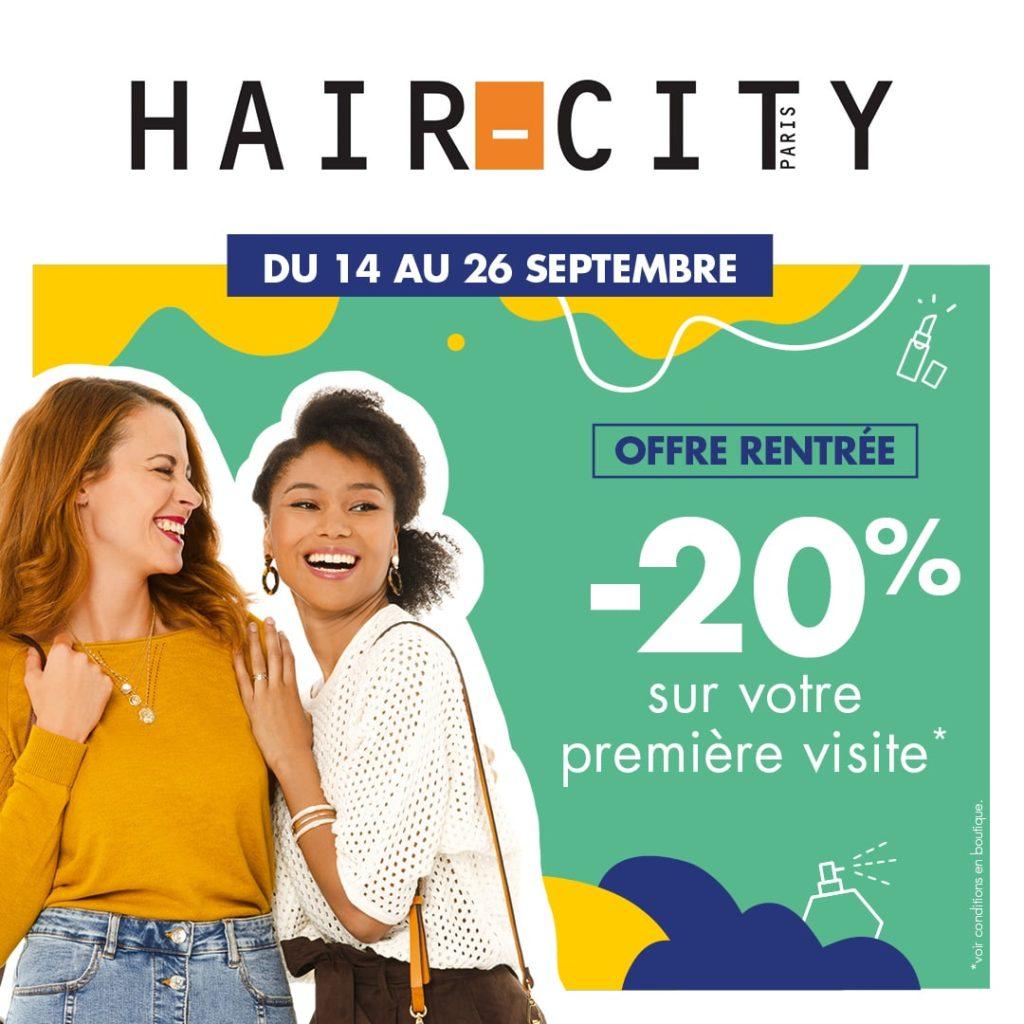 -20% pour votre première visite chez HAIR CITY